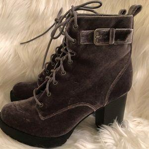Madden girl Steve Madden Velvet block heel boots